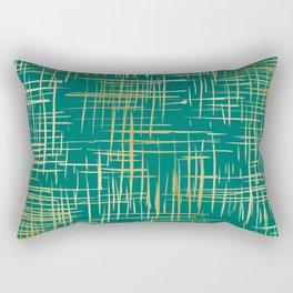 Crosshatch Green Rectangular Pillow