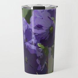 Posterised Flowers Travel Mug