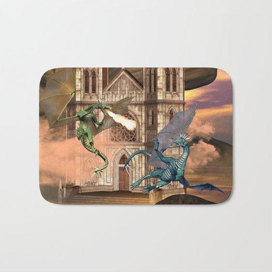 The dragon fight Bath Mat