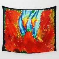 gemini Wall Tapestries featuring Gemini by SteeleCat