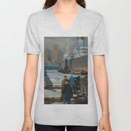 "George Wesley Bellows ""Men of the Docks"" Unisex V-Neck"