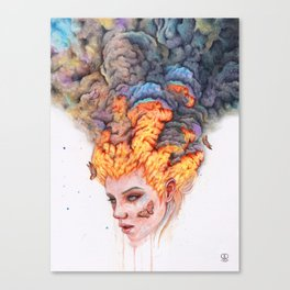 Flaming Girl Canvas Print