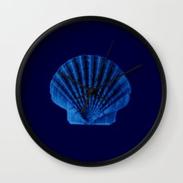 Malibu Blu Mood -Shell Wall Clock