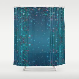 Magic fairy abstract shiny background with stars Shower Curtain