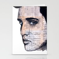 elvis Stationery Cards featuring Elvis by Krzyzanowski Art