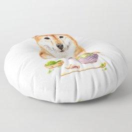Shiba Inu Making Matcha Tea Floor Pillow