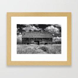Historic Blasdel Barn in Kalispell Framed Art Print