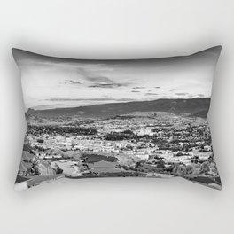 Okanagan Cityscape 02 BW Rectangular Pillow