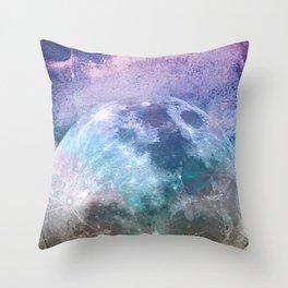 MOON under MAGIC SKY I-1 Throw Pillow