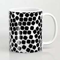 gold dots Mugs featuring Dots by Patterns and Textures