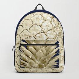 Pineapple Pineapple Gold on Navy Blue Backpack