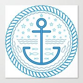 Blue Anchor Canvas Print