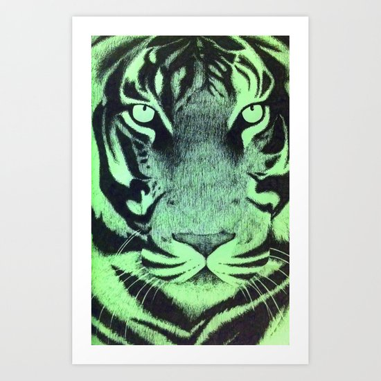 Be A Tiger (Green) Art Print