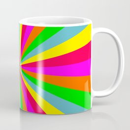 Neon Rainbow Mini Burst Coffee Mug