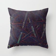 Cosmic Pentagram Throw Pillow