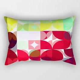 Mixed Color Poinsettias 2 Abstract Circles 3 Rectangular Pillow
