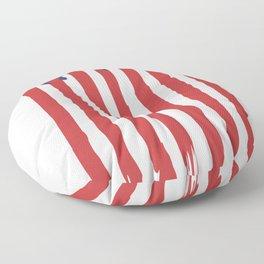 Bleeding American Flag of a US Patriot Floor Pillow