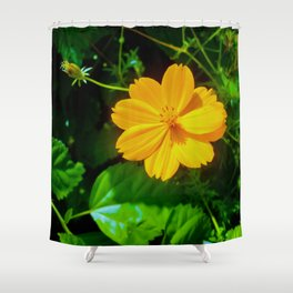 Large-flower Tickseed Shower Curtain