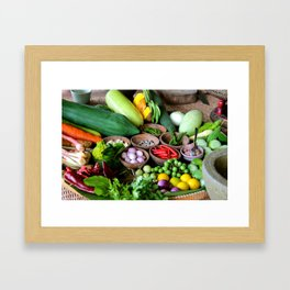 Thai Basket  Framed Art Print