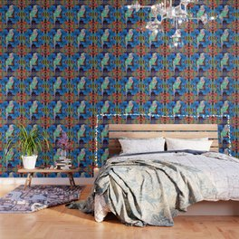 Origami Parrot Butterfly Tribal Tropical Floral Wallpaper