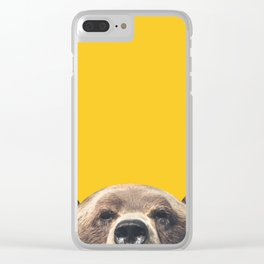 Bear - Yellow Clear iPhone Case