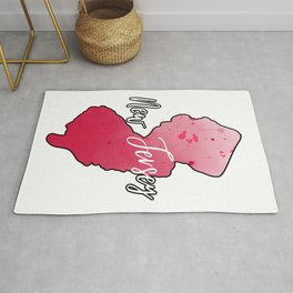 New Jersey State Map Watercolor Art Rug
