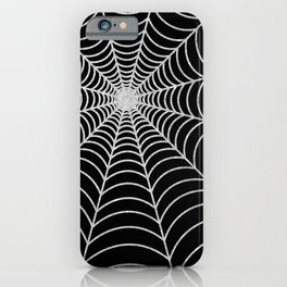 Spiderweb | Silver Glitter iPhone Case