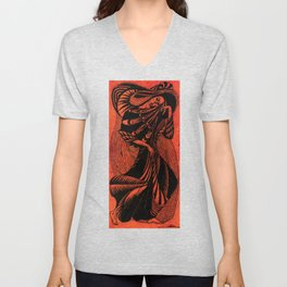 Walking I Unisex V-Neck