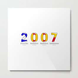 2007 - NAVY - My Year of Birth Metal Print