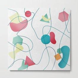 Geometric Miró Pattern Metal Print