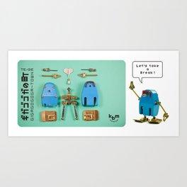 Break Time TE-GE Art Print