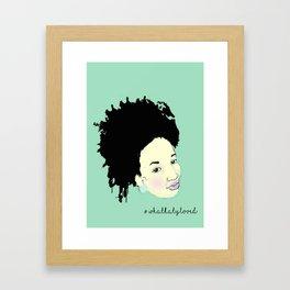 Ink Splatter Afro Girl Framed Art Print