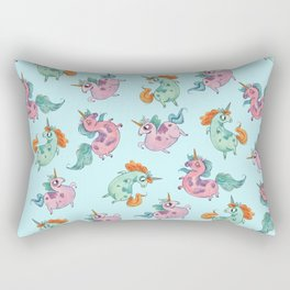 Fat Unicorn Tumble Rectangular Pillow