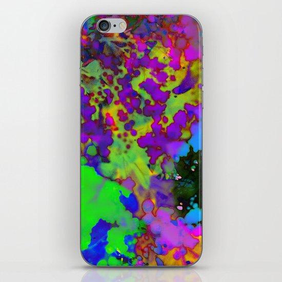 Floral Splatter iPhone & iPod Skin