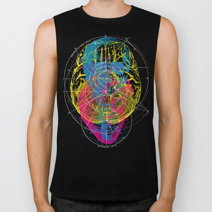 Brain Heart Skull Biker Tank