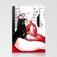 kitsune Stationery Cards featuring Kitsune by Aimee Steinberger