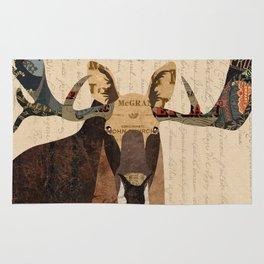 Moose Collage Rug