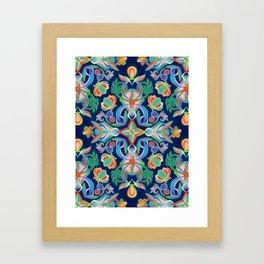 Boho Navy and Brights Framed Art Print