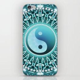 Tranquility Yin Yang Blue Aqua Mandala iPhone Skin