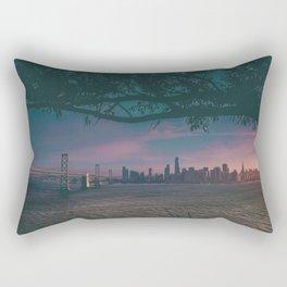 Dark San Francisco Sunset Bridge (Color) Rectangular Pillow
