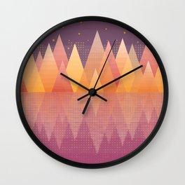 Geometric Lake Mountain III - Fall Wall Clock