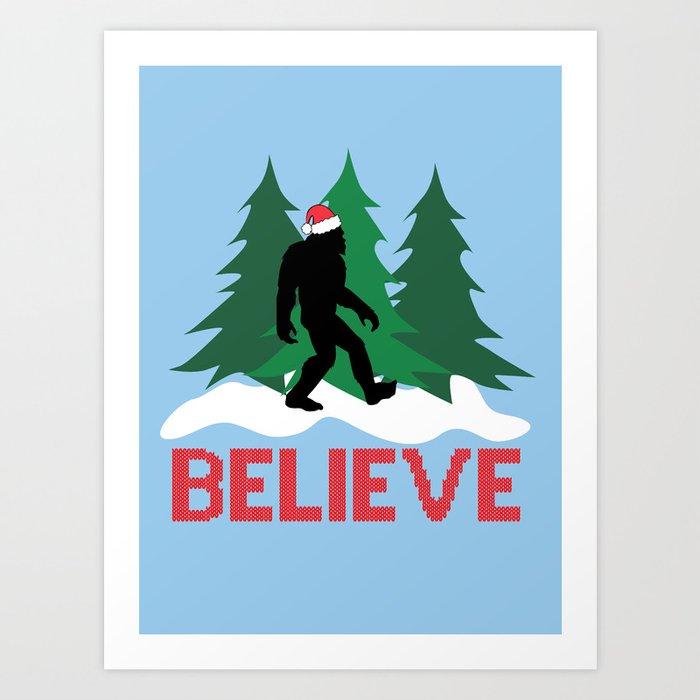 Cryptid Christmas Miracle Art Print