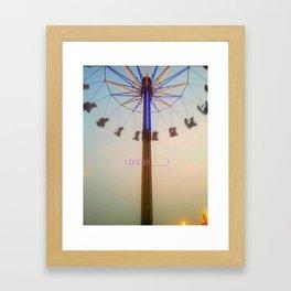 Sunset with whirly bird Framed Art Print
