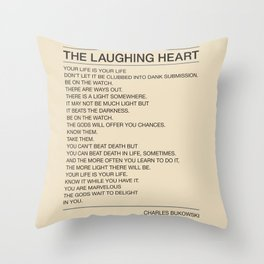 The Laughing Heart Throw Pillow