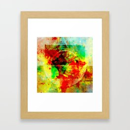 Subtle Form - Abstract colour painting Framed Art Print
