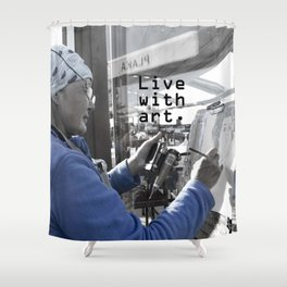 live with art Shower Curtain
