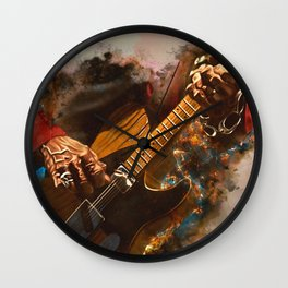 Keith Richards's five string guitar Wall Clock