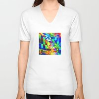 illusion V-neck T-shirts featuring Illusion. by Assiyam
