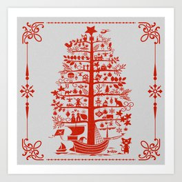 Christmas Tree Ship Art Print