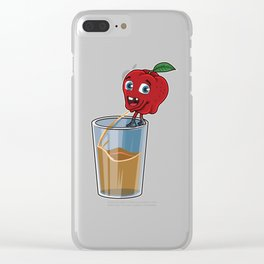 Freshly Squeezed Apple Juice Clear iPhone Case